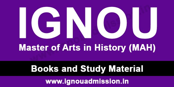 IGNOU MA History Study Material