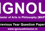 IGNOU MA Philosophy Question Paper
