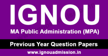 IGNOU MPA Question Paper