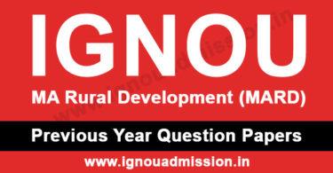 IGNOU MA Rural Development Question Paper