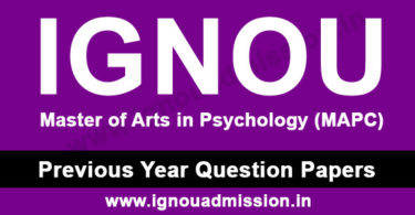 IGNOU MAPC Question Paper