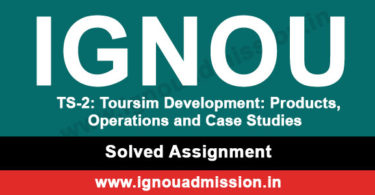 IGNOU TS 2 Solved Assignment