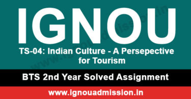 IGNOU TS 4 Solved Assignment