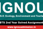 IGNOU TS 5 Solved Assignment