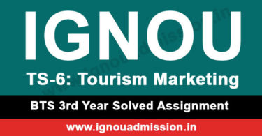 IGNOU TS 6 Solved Assignment