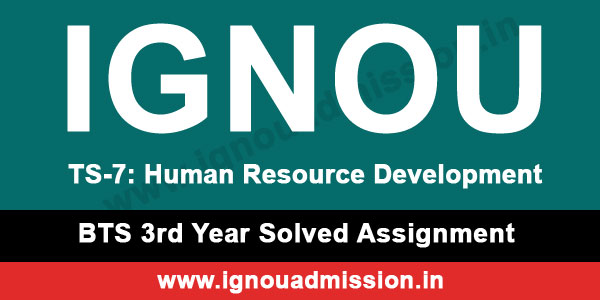 IGNOU TS 7 Solved Assignment